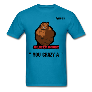 Crazy A Tee @ - turquoise