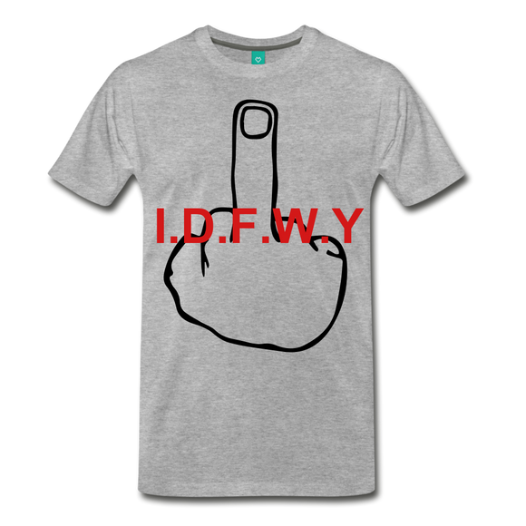 I.D.F.W.Y TEE - heather gray