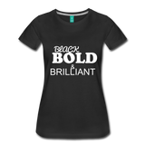 Black Bold Brilliant Tee - black