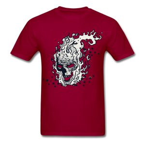 Sparkle Skull Tee - dark red