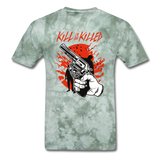 Kill Tee - military green tie dye