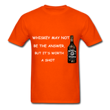 Whiskey Tee - orange
