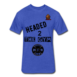 Headed to the Gym Tee - heather royal