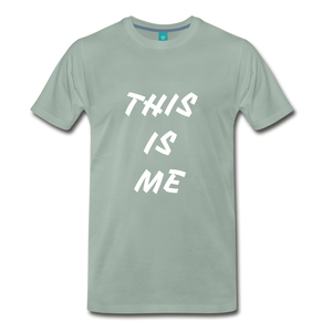 This is me Tee - steel green