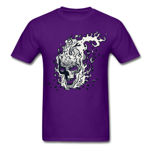 Sparkle Skull Tee - purple