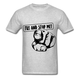 Stop Me Tee - heather gray