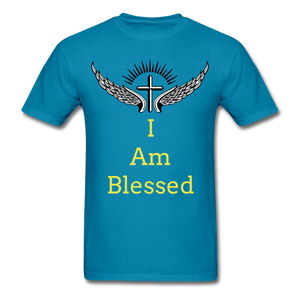 I Am Blessed Tee - turquoise