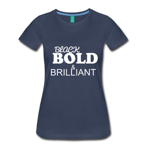 Black Bold Brilliant Tee - navy
