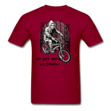 By Any Means Tee - dark red