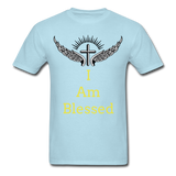 I Am Blessed Tee - powder blue