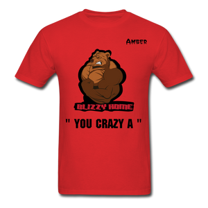 Crazy A Tee @ - red
