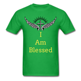 I Am Blessed Tee - bright green