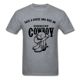 Cowboy Tee - mineral charcoal gray