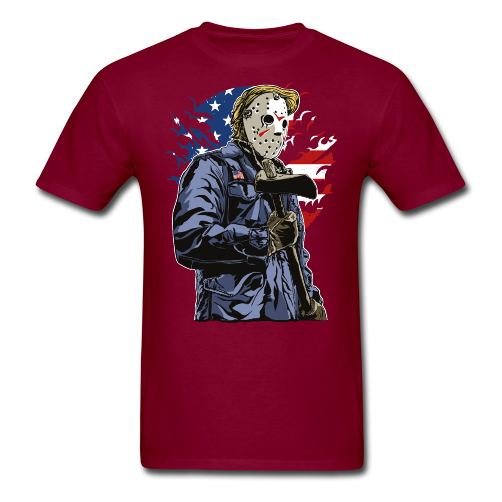 Trump Killer Tee - burgundy