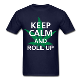 Roll Up Tee - navy