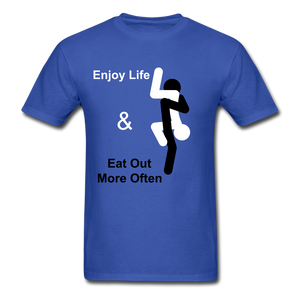 Eat Out Tee - royal blue