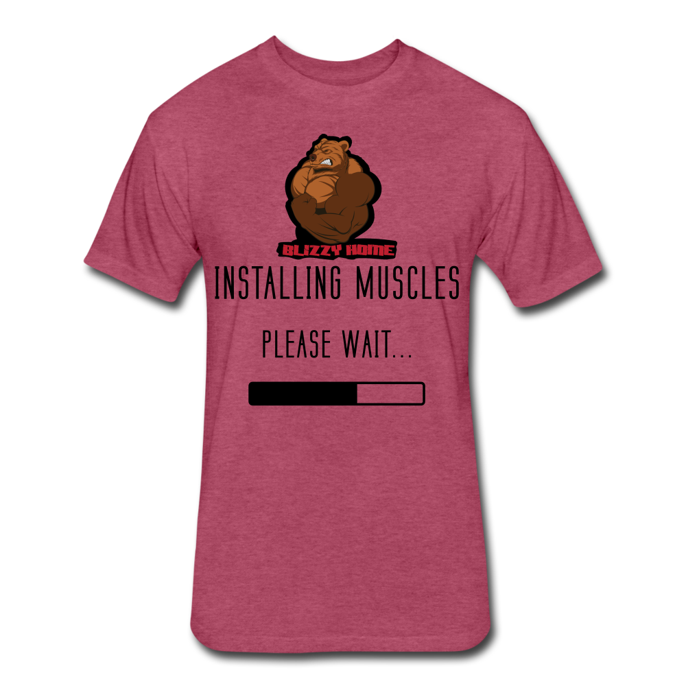 Installing Muscles Tee - heather burgundy