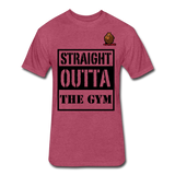 Straight Outta The Gym Tee - heather burgundy