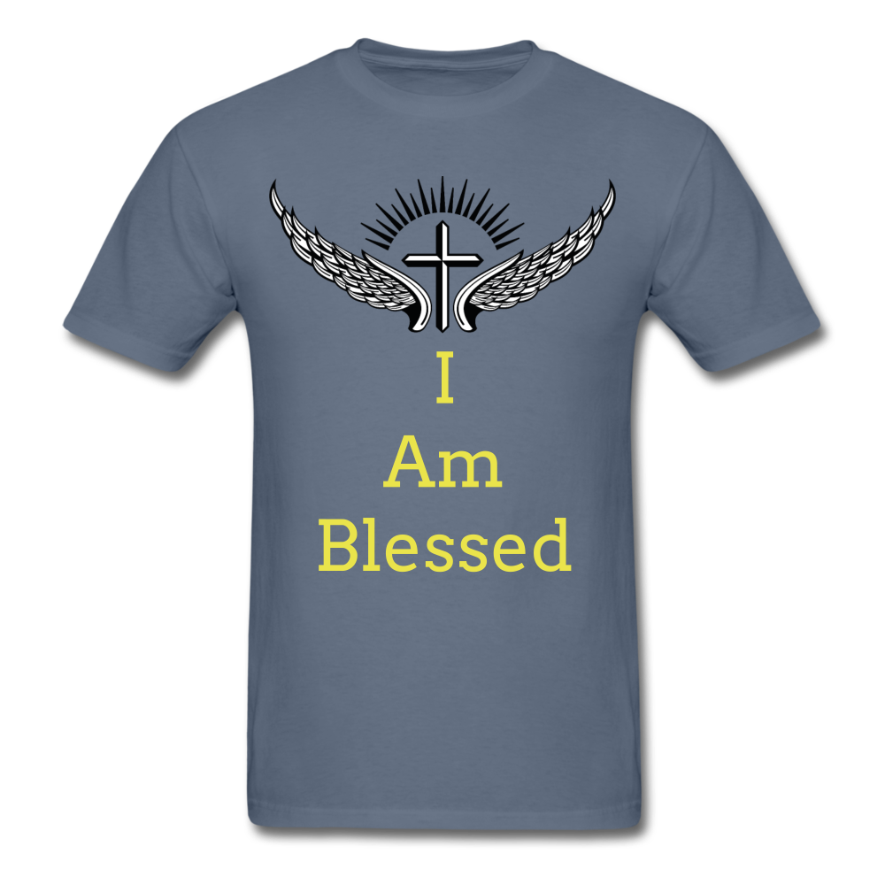 I Am Blessed Tee - denim