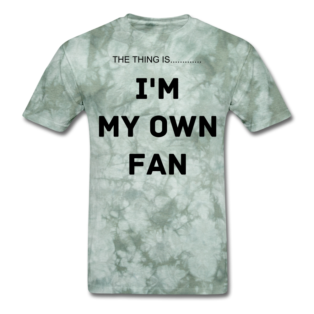 My Own Fan - military green tie dye