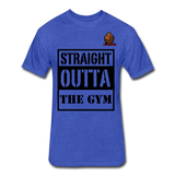 Straight Outta The Gym Tee - heather royal