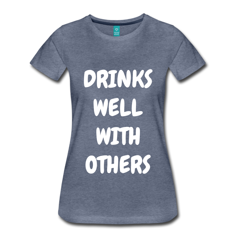 DRINKS WELL - heather blue