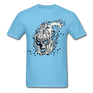 Sparkle Skull Tee - aquatic blue