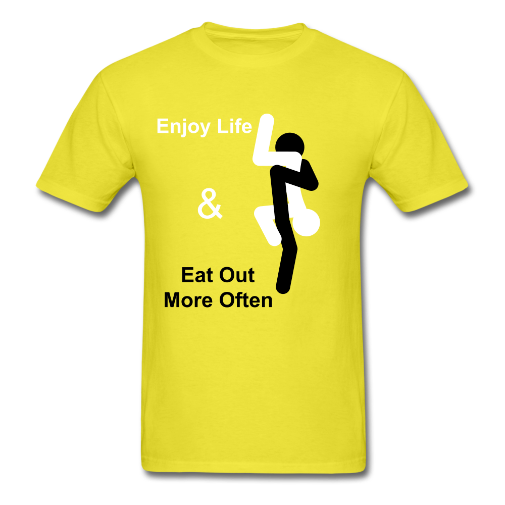 Eat Out Tee - yellow
