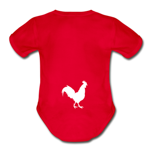 Chicken Butt Onsie - red