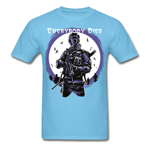 Everybody Dies Tee - aquatic blue