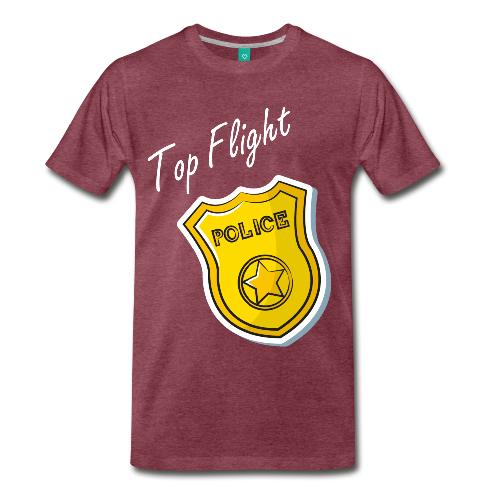 Top Flight - heather burgundy
