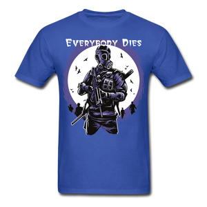 Everybody Dies Tee - royal blue