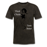 Thick Chicks Tee - mineral black