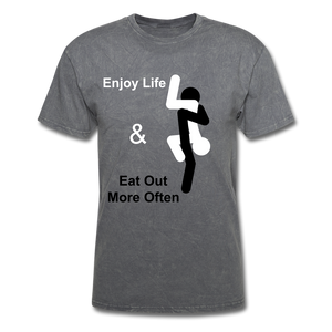 Eat Out Tee - mineral charcoal gray
