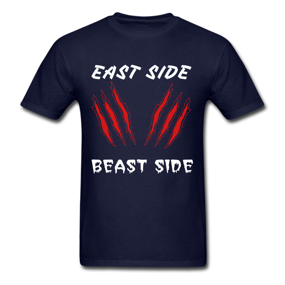 East Side Beast Side Tee - navy