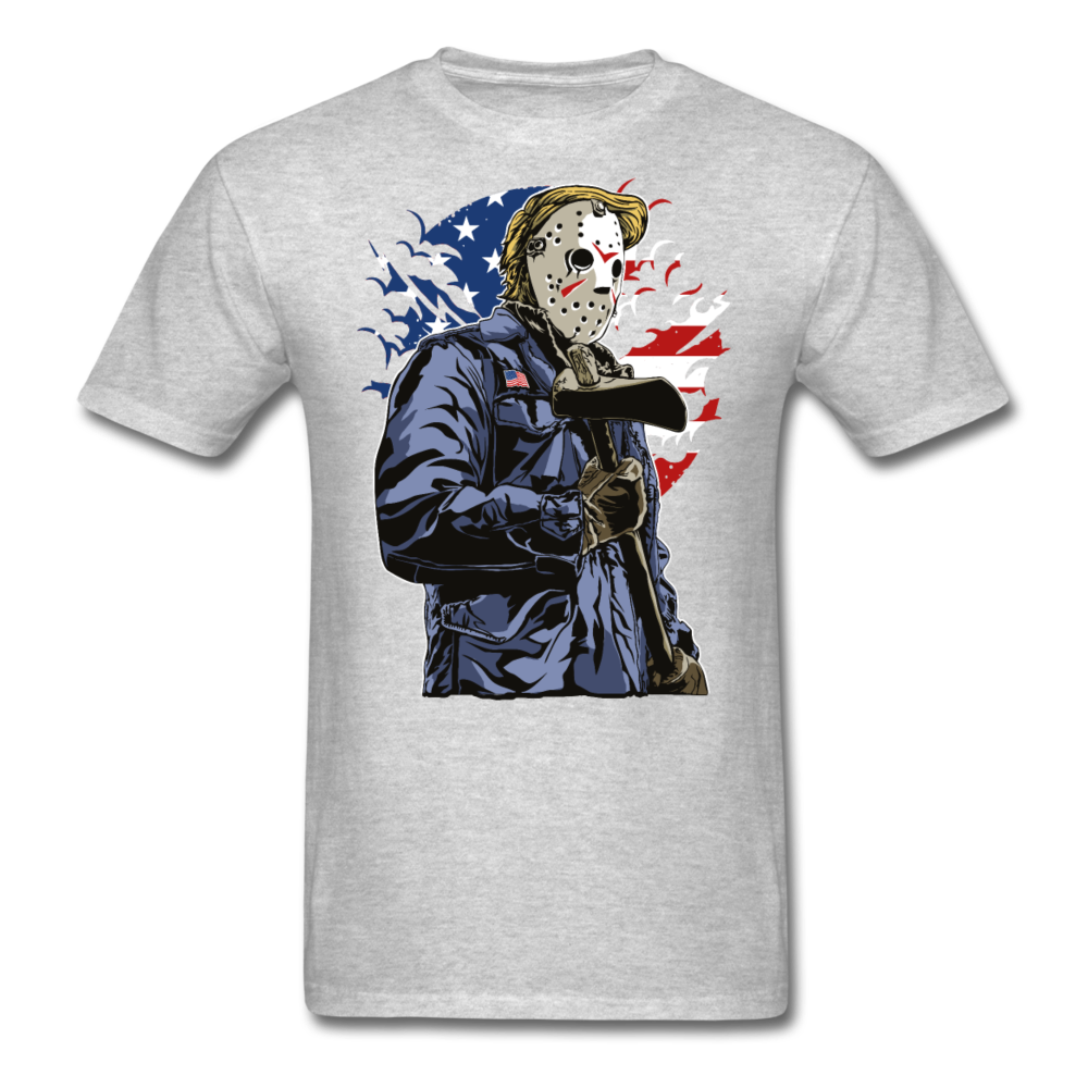 Trump Killer Tee - heather gray
