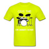 Drummer Tee - safety green