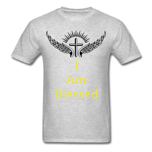 I Am Blessed Tee - heather gray
