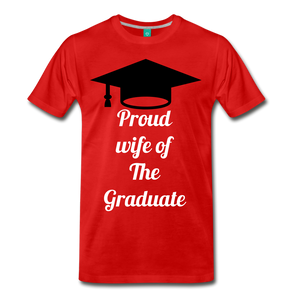 wife of grad tee - red