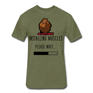 Installing Muscles Tee - heather military green