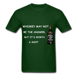 Whiskey Tee - forest green