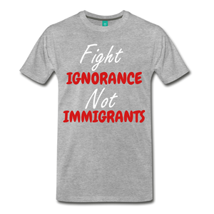 Fight Ignorance tee - heather gray