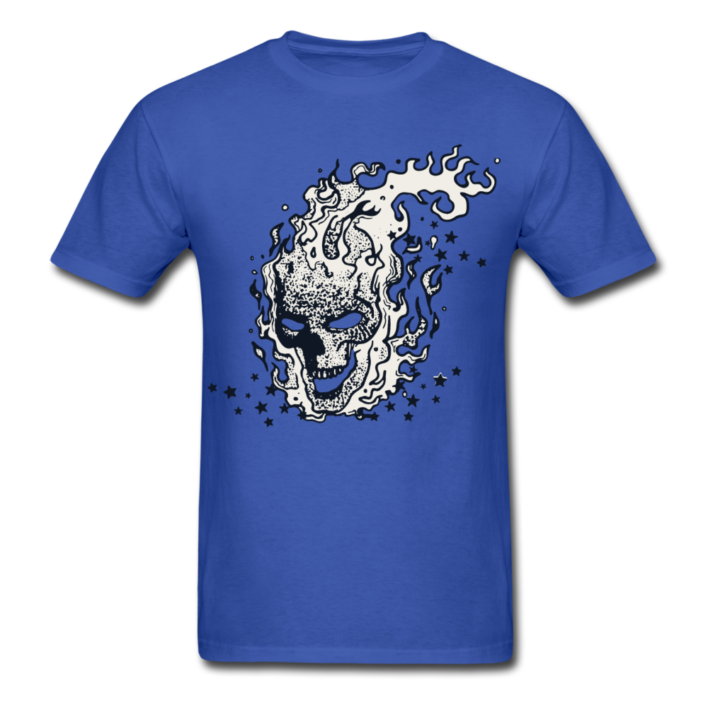 Sparkle Skull Tee - royal blue