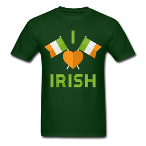 I Love Irish Tee - forest green