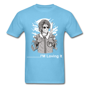 Loving it Tee - aquatic blue