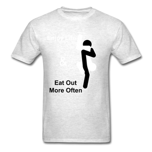 Eat Out Tee - light heather grey