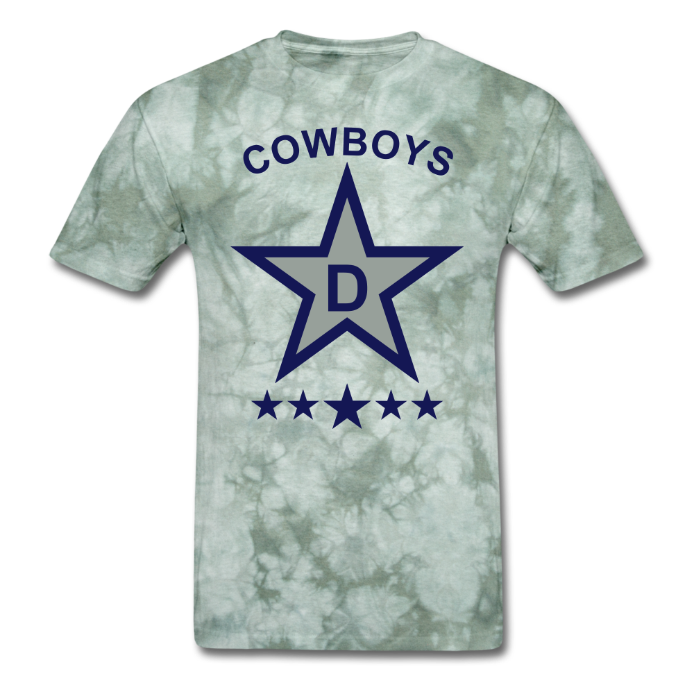 Dallas Tee - military green tie dye