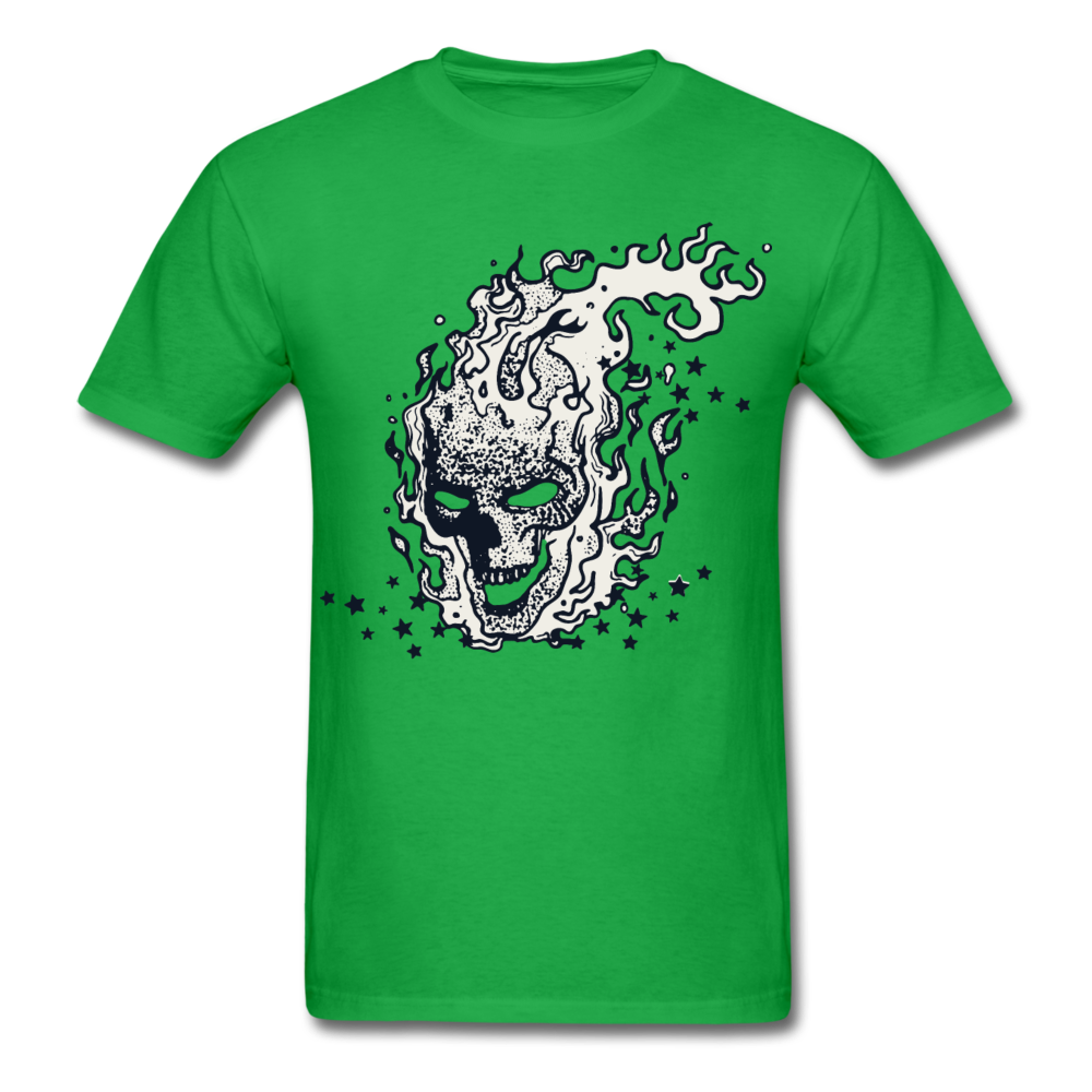 Sparkle Skull Tee - bright green