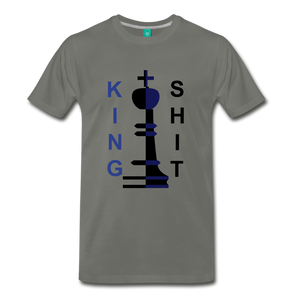 King Shit Tee - asphalt gray