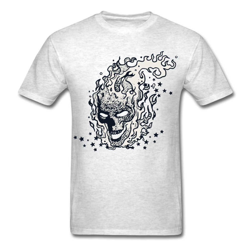 Sparkle Skull Tee - light heather grey